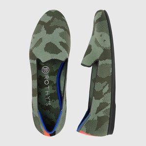 Rothy's like new Olive Camo loafer
